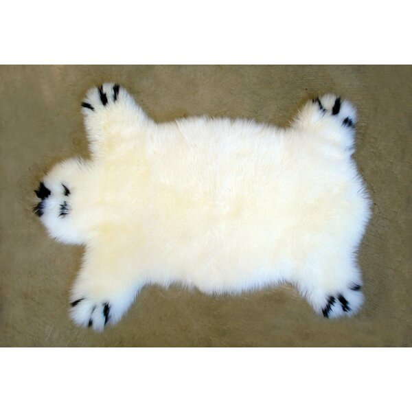 Designer Bear Animal Ivory Area Rug by Bowron Sheepskin Rugs