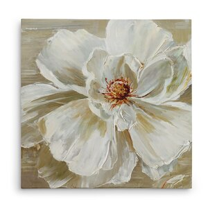 'Bloomin' Beauty I' Oil Painting Print on Wrapped Canvas by Charlton Home