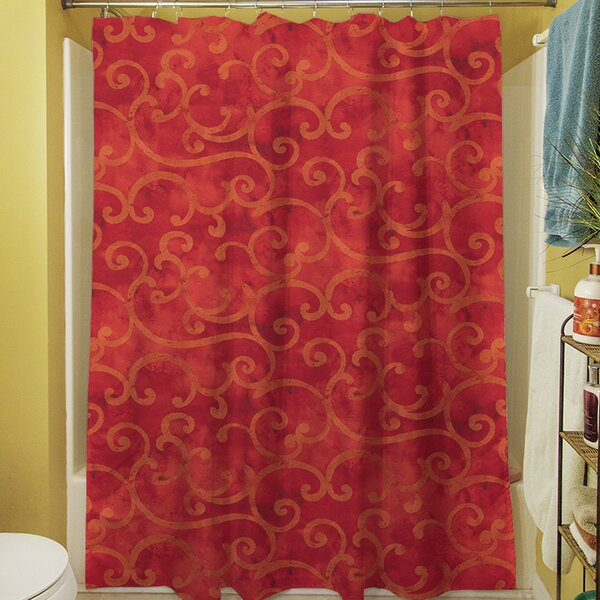Zinnia Damask Shower Curtain by Manual Woodworkers & Weavers
