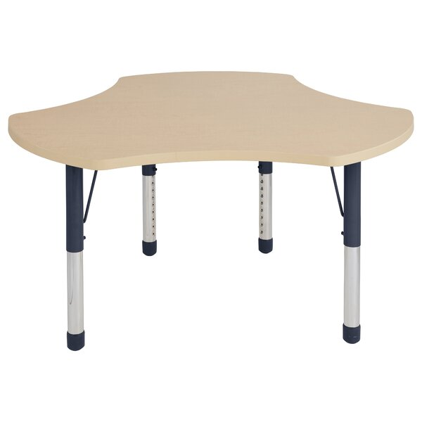 Cog Maple Top Thermo-Fused Adjustable 44.5 x 48 Novelty Activity Table by ECR4kids