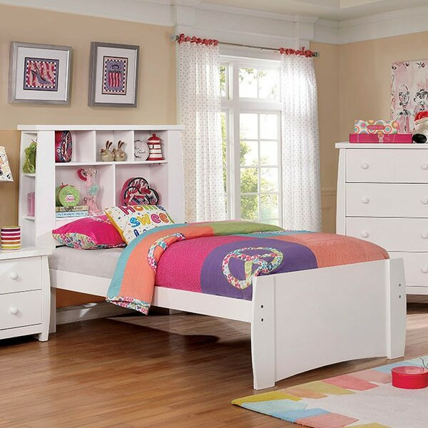 Burdick Platform Bed with Bookcase by Zoomie Kids