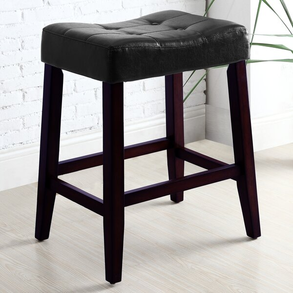 Lyndale Saddle 24 Bar Stool (Set of 2) by Alcott Hill