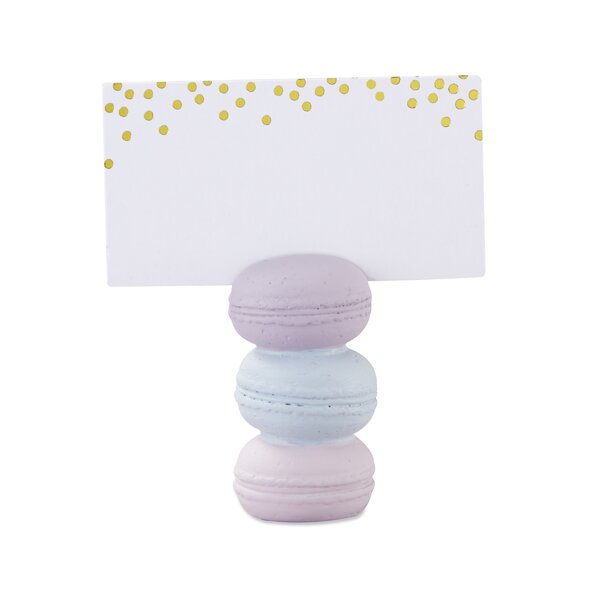 Macaroon Place Card Holder (Set of 12) by The Holiday Aisle