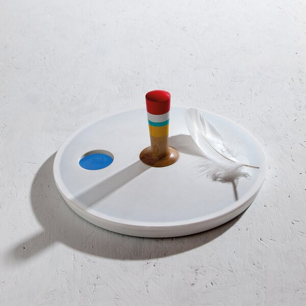 Spinny Top Bathroom Scale by Seletti