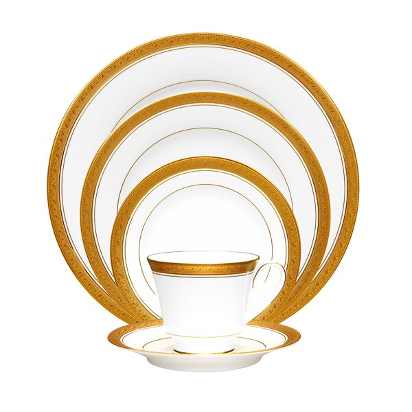 Crestwood Gold 5 Piece Place Setting, Service for 1 by Noritake