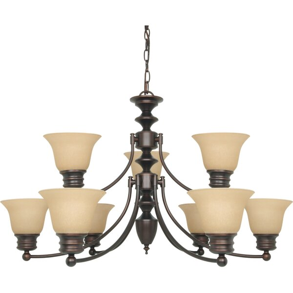 Katzer 9-Light Shaded Tiered Chandelier by Charlton Home Charlton Home