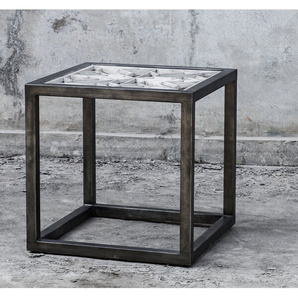 Grossman Iron Frame End Table By Bungalow Rose