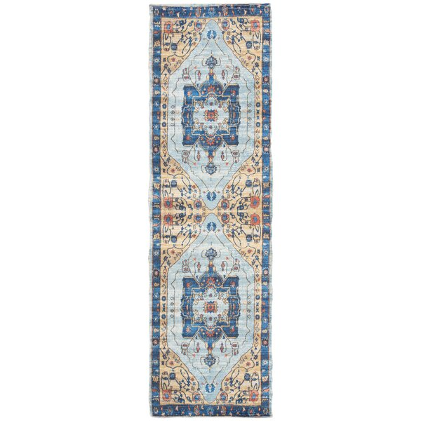 Abington Hand Tufted Cotton Turquoise Area Rug  by Bungalow Rose