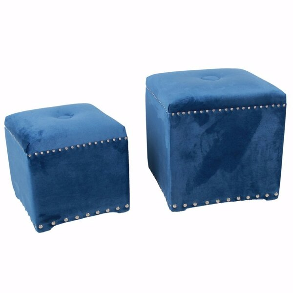 Chesterman 2 Piece Cube Ottoman Set by Everly Quinn