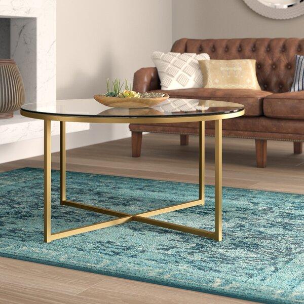 Zara Cross Legs Coffee Table By Mercer41