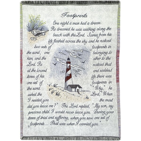 Footprints 2.5 Layer Cotton Throw by Manual Woodworkers & Weavers