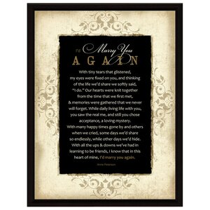 Simple Expressions I'd Marry You Framed Textual Art by Dexsa