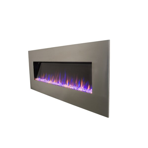 Kashvi Stainless Recessed Wall Mounted Electric Fireplace By Orren Ellis