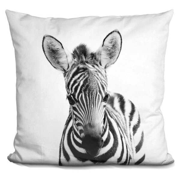 Hoerner Baby Zebra Throw Pillow by Wrought Studio