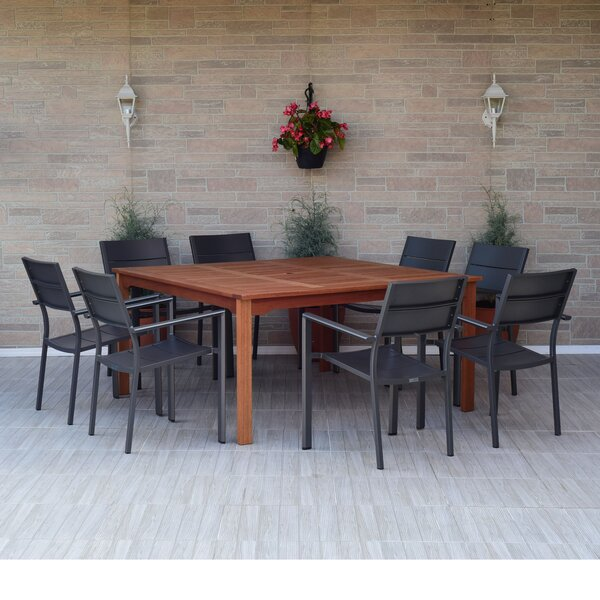 Nettleton 9 Piece Dining Set by Beachcrest Home