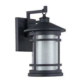 Comparison Helfer 1-Light Outdoor Wall Lantern By Latitude Run