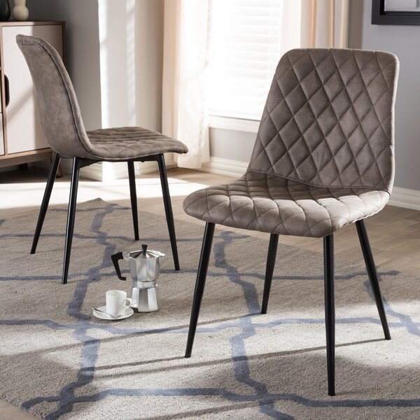 Sottile Upholstered Dining Chair (Set of 2) by Wrought Studio