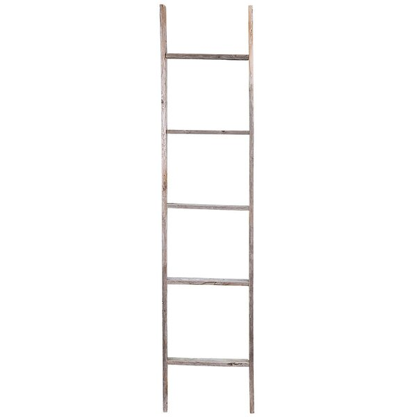 Rustic Wood 5 Ft Decorative Ladder By Union Rustic.
