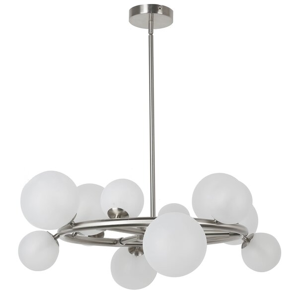 Wendt 12-Light Wagon Wheel Chandelier by George Oliver