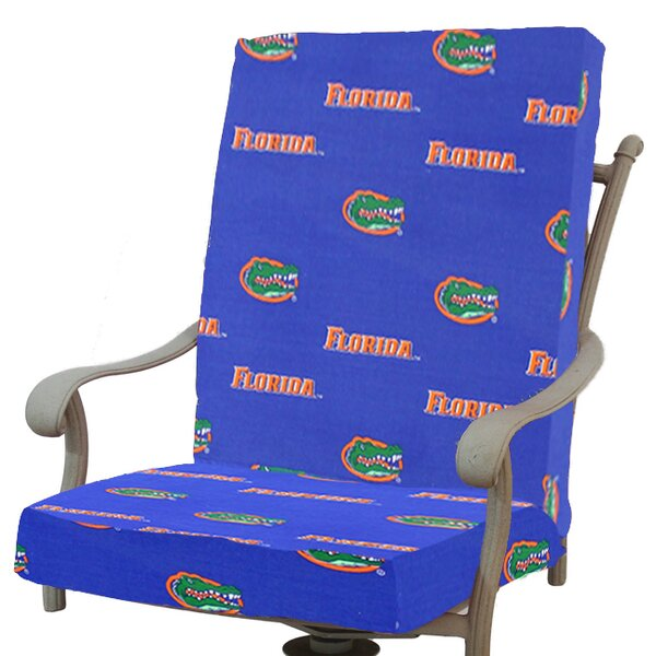 NCAA Indoor/Outdoor Dining Chair Cushion By College Covers