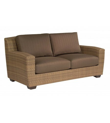 Saddleback Loveseat with Cushions by Woodard