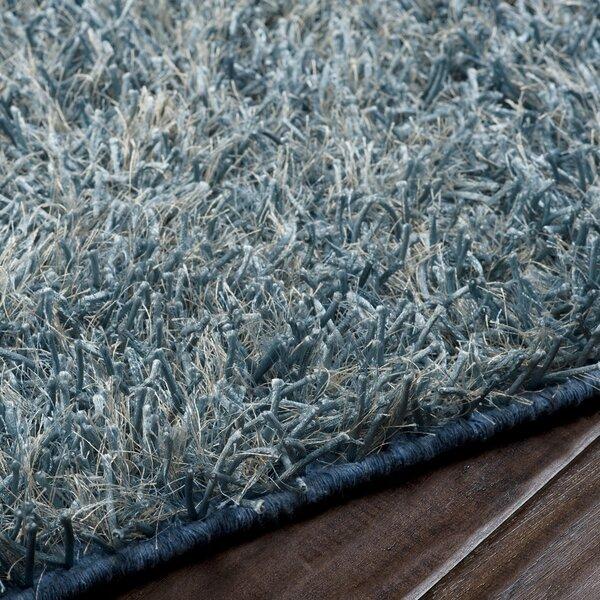 Reina Hand Woven Cloud Blue Area Rug by Ebern Designs