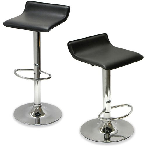 Sigma Adjustable Height Swivel Bar Stool by Vandue Corporation