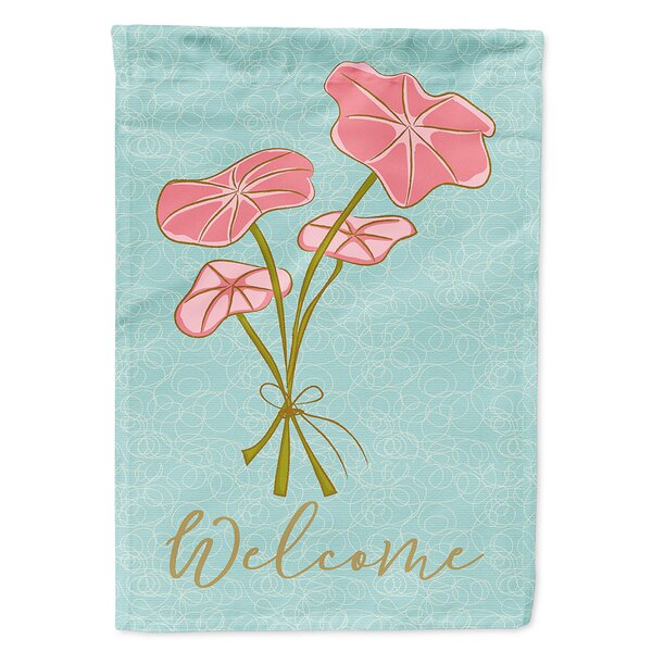 Welcome Bunch of Flowers 2-Sided Polyester 15 x 11 in. Garden Flag by East Urban Home