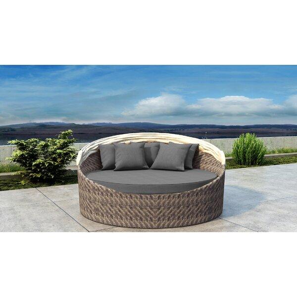 Gillham Patio Daybed with Sunbrella Cushion by Orren Ellis Orren Ellis