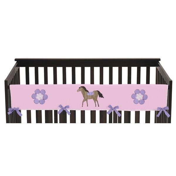 Pretty Pony Long Crib Rail Guard Cover by Sweet Jojo Designs