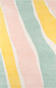 Sorbet Hand-Tufted Wool Yellow/Light Green/Light Pink Area Rug