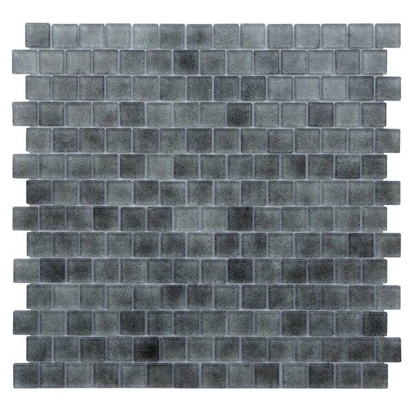 Quartz 0.75 x 0.75 Glass Mosaic Tile in Light/Dark Gray by Kellani
