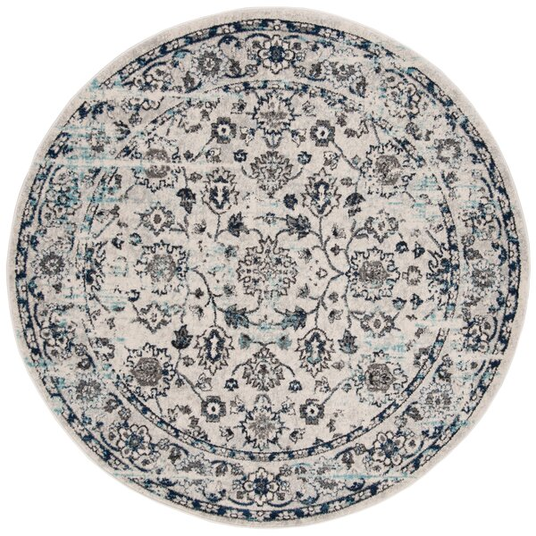 Christa Gray/Blue Area Rug by Charlton Home