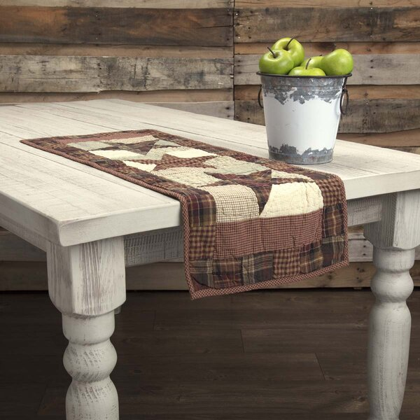 Lydia Star Classic Primitive Tabletop & Kitchen Quilted Runner by August Grove