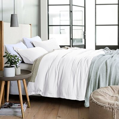 Mercury Row Lyles Reversible Duvet Cover Set Mercury Row Size Queen Color White From Wayfair North America Shefinds