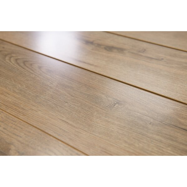 Brighton Vario 6 x 48 x 10mm Oak Laminate Flooring in Brown by Branton Flooring Collection