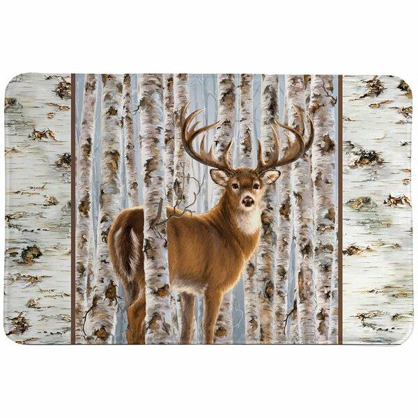 Oakgrove Buck in Birches Rectangle Non-Slip Bath Rug