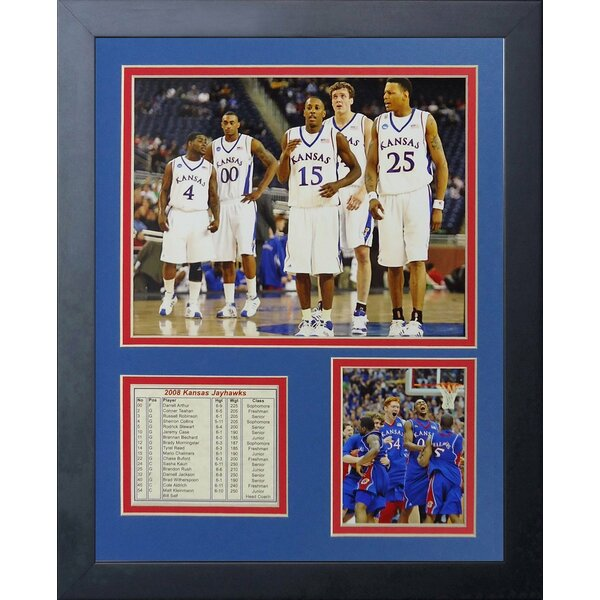 2008 Kansas Jayhawks - Lineup Framed Memorabilia by Legends Never Die