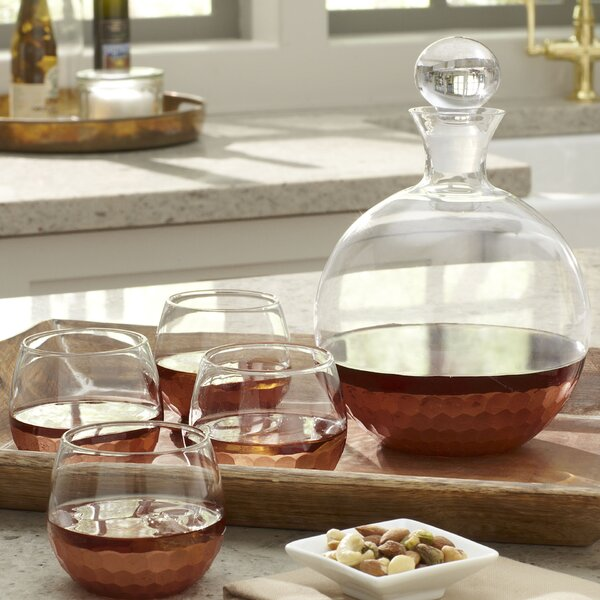 Chauncey 5-Piece Round Decanter Set by Birch Lane™