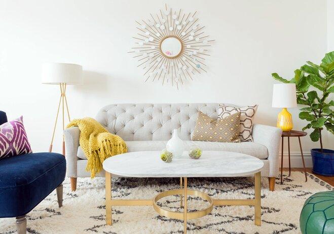 Starburst Mirror Living Room