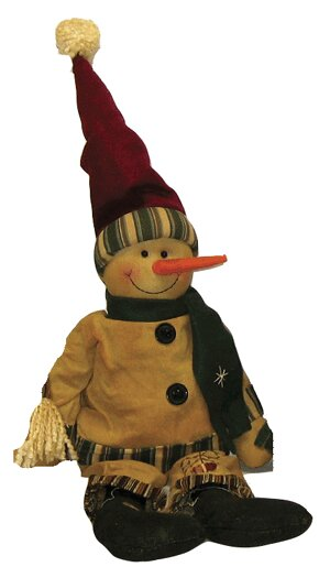 Sitting Country Snowman by Craft Outlet