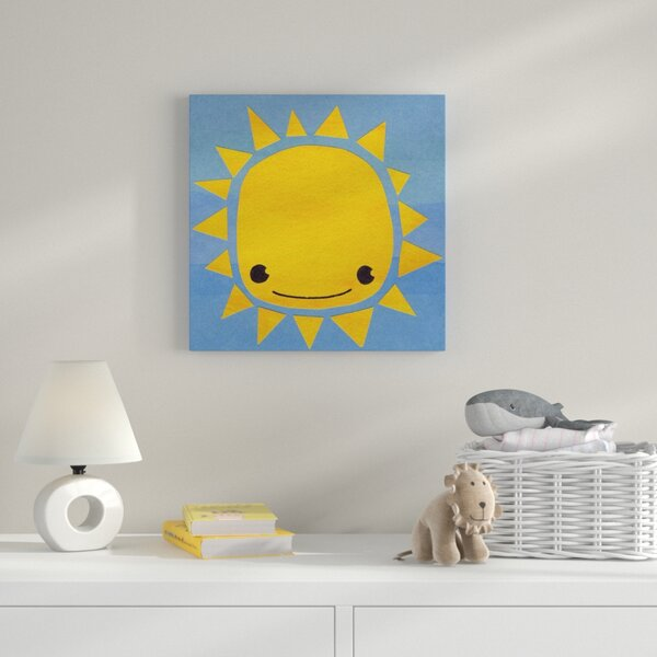 Sun Graphic Art on Wrapped Canvas by Zoomie Kids