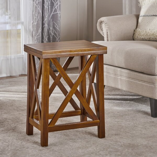 Dundee Wood End Table by Bay Isle Home