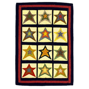 Great choice Penny Star Patch Sampler Black/Gold Area Rug ByHomespice Decor