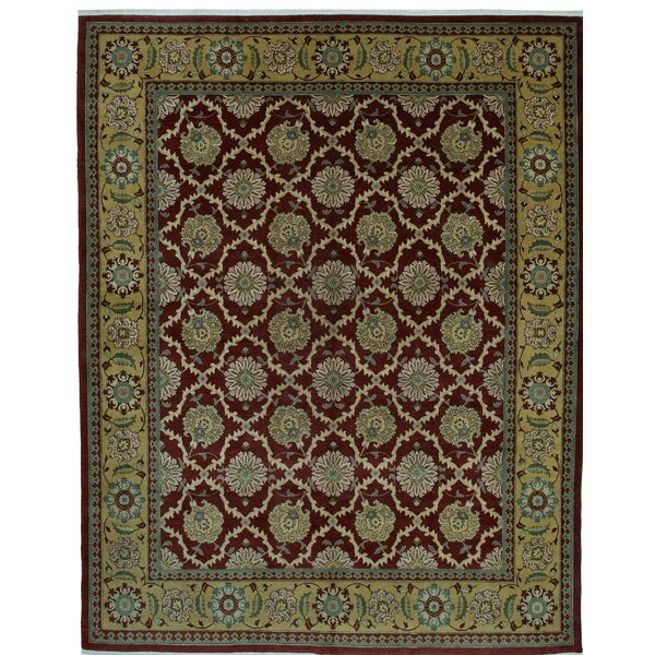 One-of-a-Kind Vrtanes Hand-Knotted 1960s Turkish Red/Beige 10' x 13' Area Rug