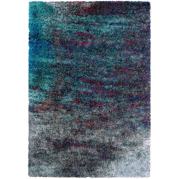 Pangburn Twilight Gray/Turquoise Area Rug by Wrought Studio