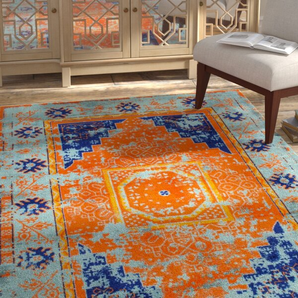 Watson Hand-Tufted Blue Area Rug by Bloomsbury Market
