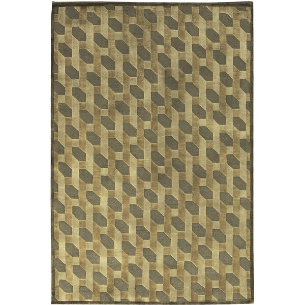 One-of-a-Kind Indian Hand-Knotted Wool Taupe Area Rug by Bokara Rug Co., Inc.