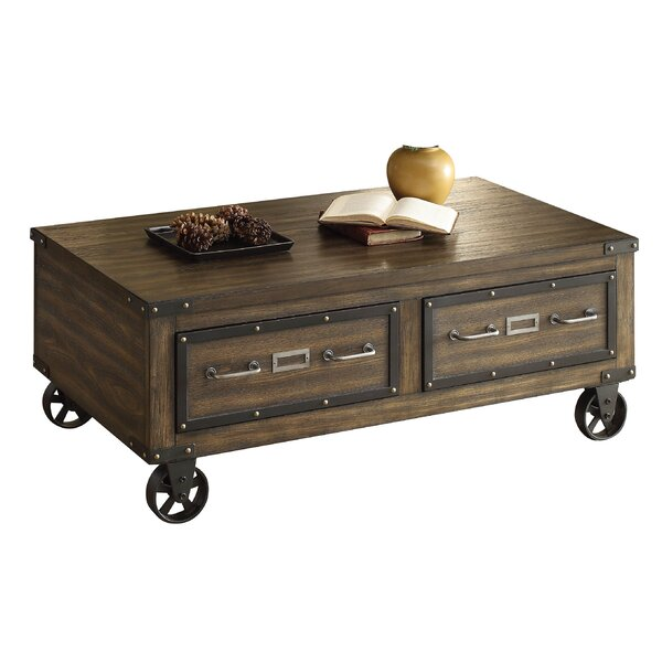 Aveline Wood Coffee Table with Storage by 17 Stories