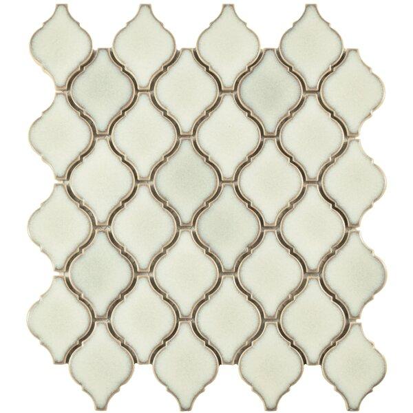 Arabesque 1.87 x 2.75 Porcelain Mosaic Tile in Selene by EliteTile